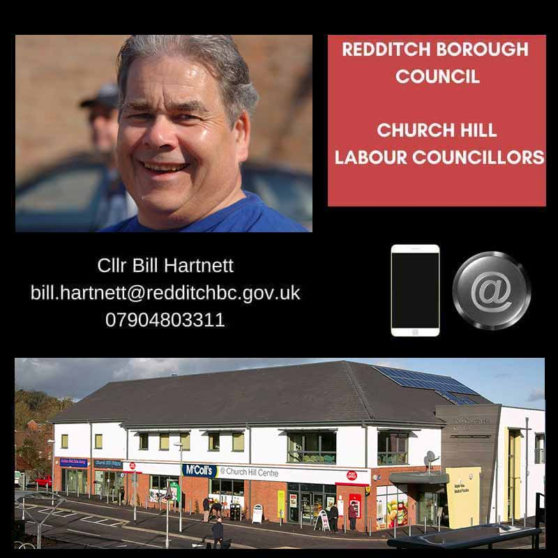 Councillors Bill Hartnett and Pat Witherspoon - Church Hill Ward