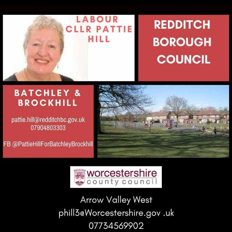 Councillor Pattie Hill - Batchley and Brockhill Ward and County Councillor for Arrow Valley West