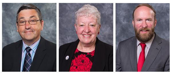 Redditch Labour County Councillors Andy Fry, Pattie Hill & Robin Lunn